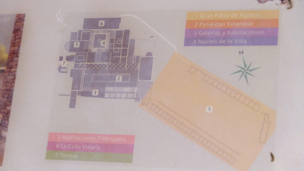 Plano de la Villa romana Liedena